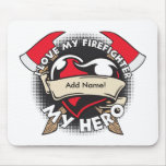 Custom Love My Firefighter Mouse Pad