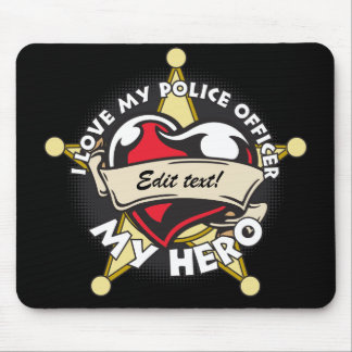 Custom Love My Police Officer Mouse Pad