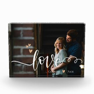 Custom LOVE Photo Block
