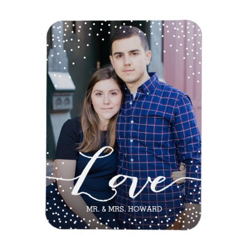 Custom Love Wedding Photo Magnet
