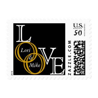 Custom Love with Names Wedding Postage