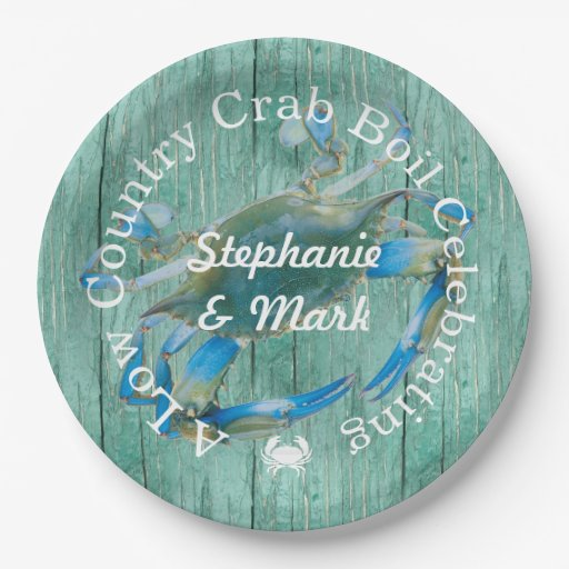 Custom Low Country Crab Boil Celebration Paper Plate