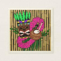 Custom Luau Birthday Party Theme Paper Napkin