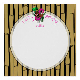 Custom Luau Birthday Party Theme Poster