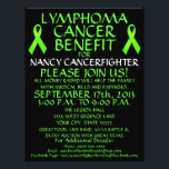 """Custom Lymphoma Cancer Benefit Flyer<br><div class=""""desc"""">This beautiful lymphoma cancer benefit flyer is perfect for advertising a cancer benefit and auction once you personalize with all your own benefit details in the provided boxes. See our store for coordinating cancer benefit posters and also specific types of cancer benefit flyers. The back of this lymphoma cancer benefit...</div>"""