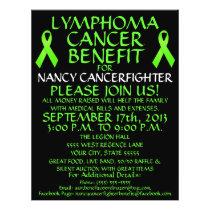 Custom Lymphoma Cancer Benefit Flyer