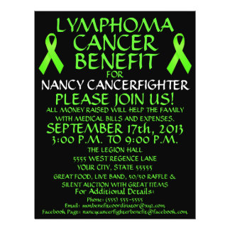 Custom Lymphoma Cancer Benefit Flyer