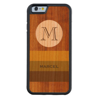 custom M name and initial on-wood Carved® Cherry iPhone 6 Bumper Case