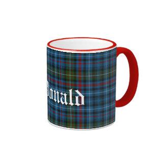 Custom MacDonald Scottish Clan Tartan Plaid Ringer Mug