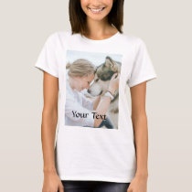 Custom Made - Add Photo and Text T-Shirt