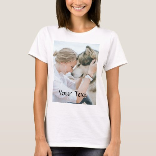 Custom Made _ Add Photo and Text T_Shirt