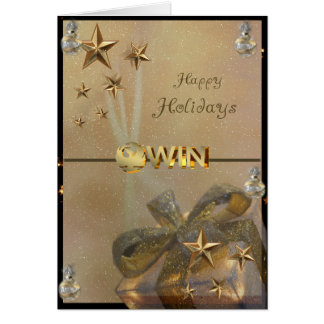 Custom Made Company Holiday Card for Client