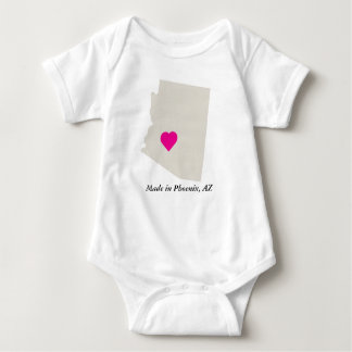 Custom Made In Arizona State Love Baby Tee