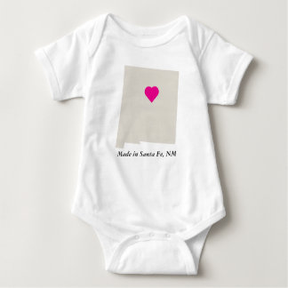 Custom Made In New Mexico State Love Baby Tee