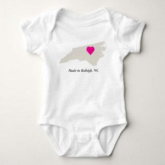 Custom Made In North Carolina State Love Baby Tee