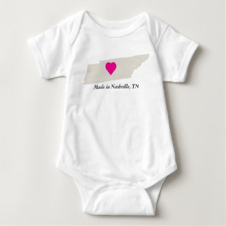 Custom Made In Tennessee State Love Baby Tee