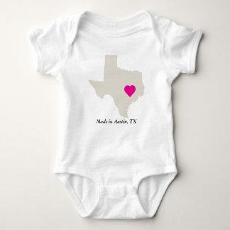 Custom Made In Texas State Love Baby Tee