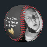 """Custom Made Personalized One of a Kind Baseball<br><div class=""""desc"""">personalized one of a kind unique made by you custom baseball  - the ball features a small heart detail - you can add your own text and photos to this base ball from Ricaso</div>"""