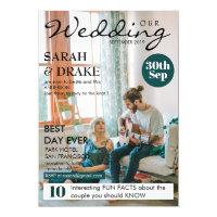 Custom Magazine Cover Style Photo Wedding Invitations