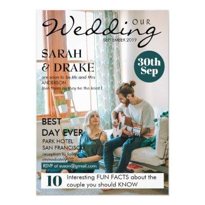 6 5x8 75 Wedding Magazine Cover Page Bridal Shower Invitation | Zazzle com