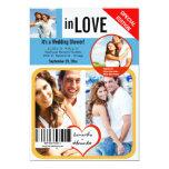 "Custom Magazine Style Wedding Shower Invite 5"" X 7"" Invitation Card"