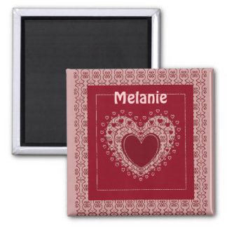 CUSTOM  MAGNET...ADD YOUR NAME 2 INCH SQUARE MAGNET