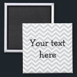 """Custom magnet - grey chevron<br><div class=""""desc"""">Custom magnet with a yellow chevron background. Make it your own. Add your own funny saying,  Reminder for the kids,  or even add a picture!</div>"""