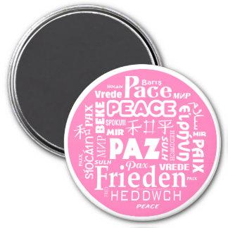 Custom Magnet Pink Peace