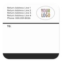 Custom Mailing Shipping Labels Logo Return Address
