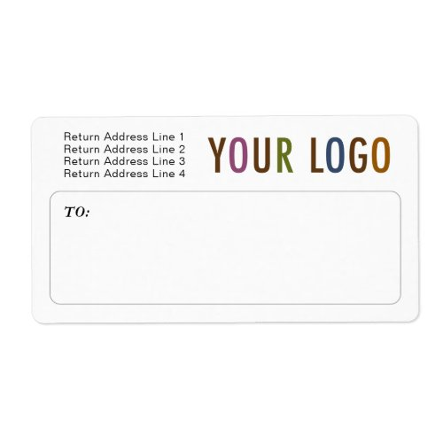 Custom Mailing Shipping Labels with Company Logo