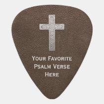Custom-Make Psalm Metal Cross Guitar Pick