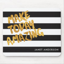 Custom Make Today Amazing Black and Gold Mouse Pad