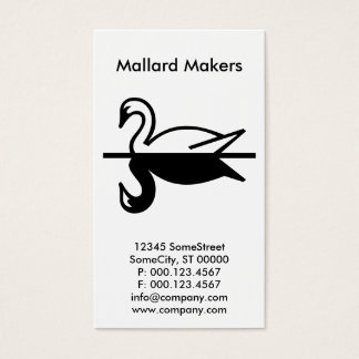 custom mallard company business card