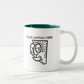 Custom Man 3 Two-Tone Coffee Mug