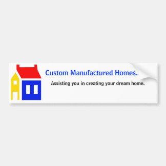 Custom Manufactured Homes. net, Car Bumper Sticker