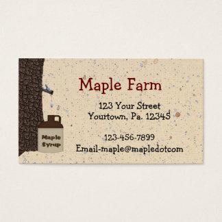 Custom Maple Syrup Business Card