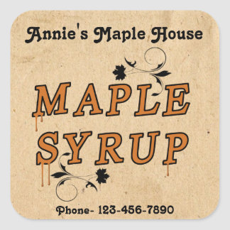 Custom Maple Syrup Business Product Sticker