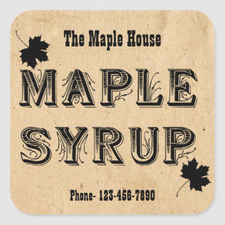 Custom Maple Syrup Maple Leaf Business Sticker