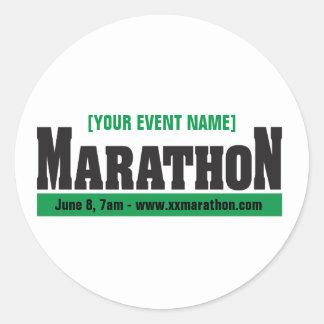 Custom Marathon Running Event Classic Round Sticker