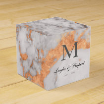 Custom Marble & Copper Wedding Favor Box