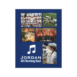 Custom Marching Band Orchestra Music Photo Collage Canvas Print