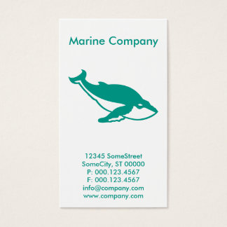 custom marine company business card