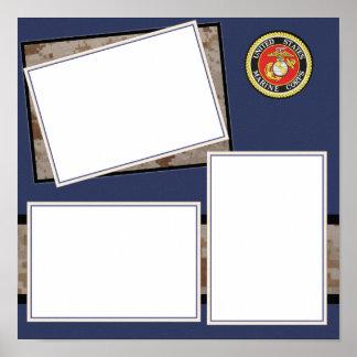 Custom Marine Corps Photo Design Poster
