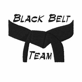 Custom Martial Arts Black Belt Team Polo Shirt