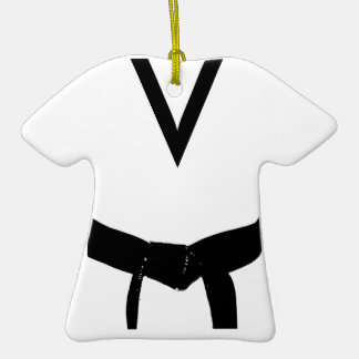 Custom Martial Arts Black Belt Uniform Ornament