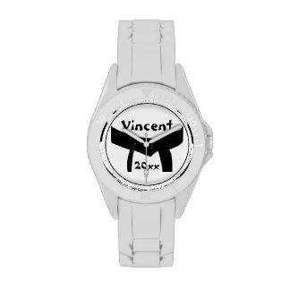 Custom Martial Arts Black Belt Wrist Watch