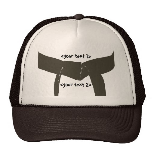 Custom Martial Arts Brown Belt Hat