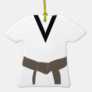 Custom Martial Arts Brown Belt Uniform Ornament