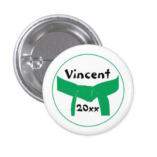 Custom Martial Arts Green Belt Button