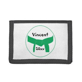Custom Martial Arts Green Belt Wallet